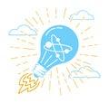 Concept of ideas, innovation,