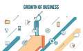 Concept illustration growth of business Royalty Free Stock Photo