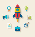 Concept of launch a new innovation product on a market Royalty Free Stock Photo