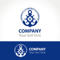 Concept of the logo for the marine companies and yacht club.