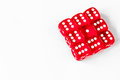 Concept luck - dice gambling on white background Royalty Free Stock Photo