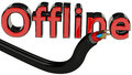 Concept offline of cable and cut with text rendered in d Stock Photography