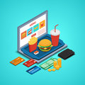 Concept online restaurant.