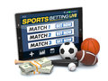 Concept of online sport bets Royalty Free Stock Photo