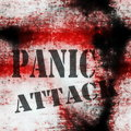 Concept panic attack grungy wall background Stock Photos