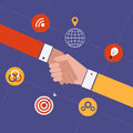 Concept for partnership and team work flat design modern vector illustration Stock Photography