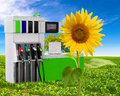 Concept of petrol and clean environment Royalty Free Stock Photo