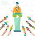 Concept of public speaking