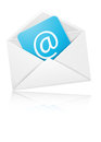 Concept representing email with envelope for you design Royalty Free Stock Photo