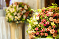 Concept, restaurant with elegant floral composition design Royalty Free Stock Photo