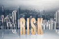 Concept of risk Royalty Free Stock Photo
