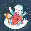 Concept of Santa Claus baby