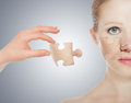 Concept skincare. Skin of beauty woman Royalty Free Stock Photo