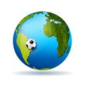 Concept soccer vector background with grunge globe Royalty Free Stock Image