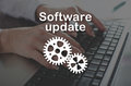 Concept of software update Royalty Free Stock Photo