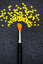 Concept of success: brush painting stars Stock Image