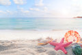 Concept of summertime on tropical beach Royalty Free Stock Photo