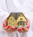 Concept of sweet home of dream. Royalty Free Stock Photo