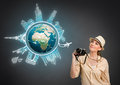 Concept travel around the world Royalty Free Stock Photo