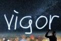Concept of vigor Royalty Free Stock Photo