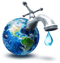 Concept of water conservation in america Stock Images