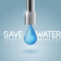 Concept of water conservation vector illustration Stock Photo