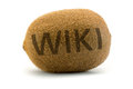 Concept wiki on kiwi encyclopedia wikipedia in a unusual way displayed Royalty Free Stock Image