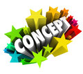 Concept word starbust share new exciting idea in colorful stars or fireworks to illustrate an or innovation that is fun or solves Royalty Free Stock Images