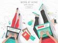 Concept of working at the home