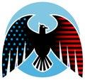 Conception américaine d'aigle Photos stock