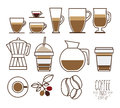 Conception de café Images stock