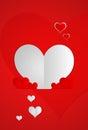 Conception de valentine card Image libre de droits