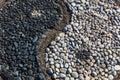 Yin and yang of stones Royalty Free Stock Photo
