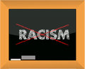 Conceptional chalk drawing - No racism Stock Photos