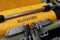 Concepto de blogging Fotografía de archivo libre de regalías