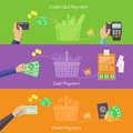 Concepts for online shopping, delivery and payment Royalty Free Stock Photo