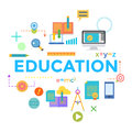 Concepts of word education. Flat design banner for website and mobile website, easy to use and highly customizable. Vector