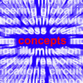 Concepts Word Representing New Ideas Stock Photo