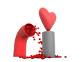 Conceptual 3D hearts Royalty Free Stock Image