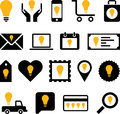 Conceptual bulb icons this is a collection of made with bulbs Stock Photography