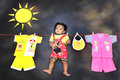 Conceptual child photography. Royalty Free Stock Photo