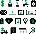 Conceptual dollar icons set of made with symbol Stock Image