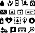 Conceptual drop icons set of concetual made with drops Stock Photo