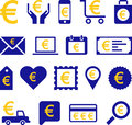 Conceptual euro icons set of made with symbol Royalty Free Stock Photos