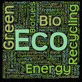 Conceptual green eco or ecology word cloud Royalty Free Stock Photo