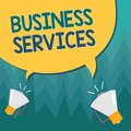 stock image of  Conceptual hand writing showing Business Services. Business photo showcasing Provides intangible products Bookkeeping IT Accountin