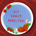 Conceptual hand writing showing Web Banner Marketing. Business photo showcasing entails to embed an advertisement in a