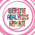Conceptual hand writing showing Website Analytics Report. Business photo showcasing procedures used to optimize the rank of the Royalty Free Stock Photo