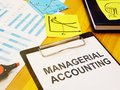 Conceptual hand written text showing managerial accounting Royalty Free Stock Photo