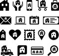 Conceptual house icons set of concetual made with houses Stock Image